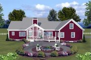 Country Style House Plan - 3 Beds 3.5 Baths 2294 Sq/Ft Plan #56-608 Exterior - Rear Elevation