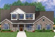 Southern Style House Plan - 4 Beds 2.5 Baths 2690 Sq/Ft Plan #62-140 Exterior - Front Elevation