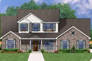 Southern Exterior - Front Elevation Plan #62-140