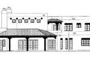Adobe / Southwestern Style House Plan - 4 Beds 3 Baths 3328 Sq/Ft Plan #72-181 Exterior - Rear Elevation