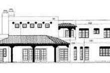 House Blueprint - Adobe / Southwestern Exterior - Rear Elevation Plan #72-181