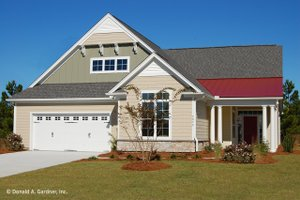 Country Exterior - Front Elevation Plan #929-784
