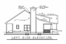 House Plan Design - Cottage Exterior - Other Elevation Plan #20-1205