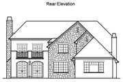 Traditional Style House Plan - 4 Beds 3.5 Baths 4898 Sq/Ft Plan #490-13 Exterior - Rear Elevation
