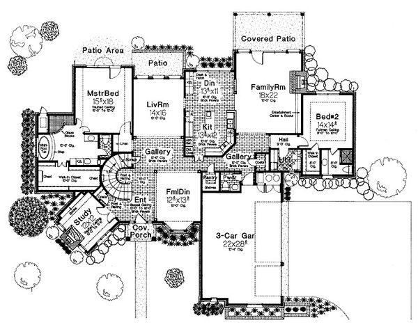 European Floor Plan - Main Floor Plan Plan #310-194