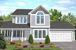 Country Exterior - Front Elevation Plan #50-115