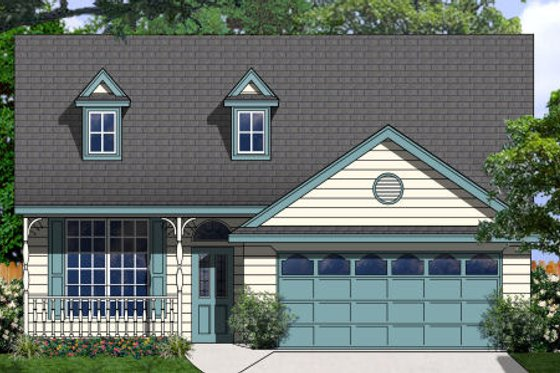 Country Exterior - Front Elevation Plan #62-149