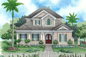 Beach Exterior - Front Elevation Plan #27-367