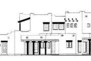 Adobe / Southwestern Style House Plan - 4 Beds 3.5 Baths 2739 Sq/Ft Plan #72-158 Exterior - Rear Elevation