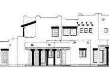 House Blueprint - Adobe / Southwestern Exterior - Rear Elevation Plan #72-158
