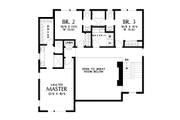 Contemporary Style House Plan - 3 Beds 2.5 Baths 2437 Sq/Ft Plan #48-1009 Floor Plan - Upper Floor