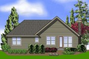 Farmhouse Style House Plan - 3 Beds 2 Baths 1802 Sq/Ft Plan #48-277 Exterior - Rear Elevation
