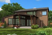 Contemporary Style House Plan - 4 Beds 3 Baths 3110 Sq/Ft Plan #132-227 Exterior - Rear Elevation