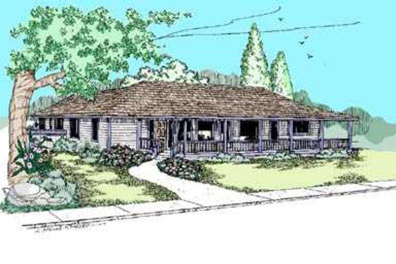 Ranch Exterior - Front Elevation Plan #60-490 - Houseplans.com