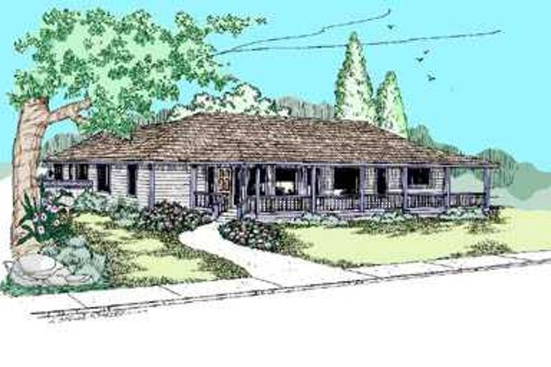 Ranch Exterior - Front Elevation Plan #60-490