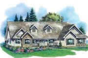 Country Style House Plan - 4 Beds 2.5 Baths 2630 Sq/Ft Plan #18-328 Exterior - Front Elevation