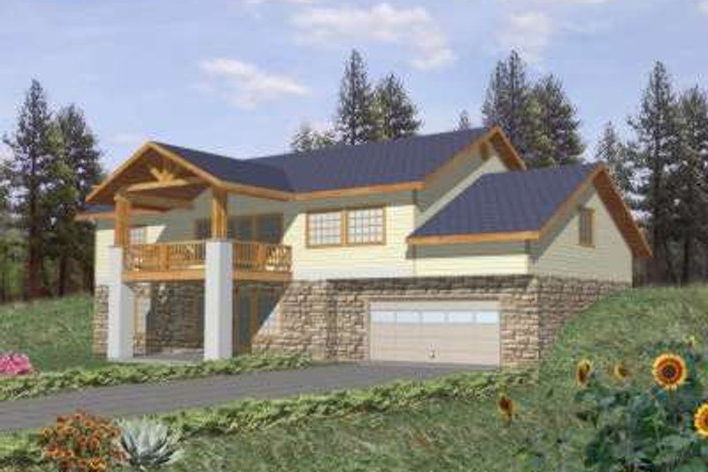 Traditional Exterior - Front Elevation Plan #117-361