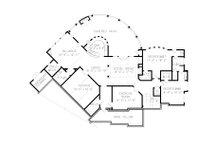 Craftsman Floor Plan - Lower Floor Plan Plan #54-411