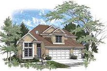 Traditional Exterior - Front Elevation Plan #48-202