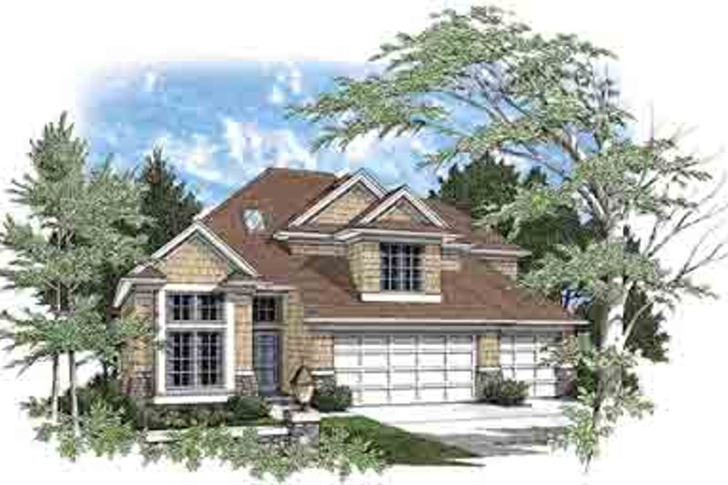 Dream House Plan - Traditional Exterior - Front Elevation Plan #48-202