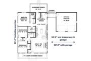 Craftsman Style House Plan - 3 Beds 2 Baths 1587 Sq/Ft Plan #44-234 Floor Plan - Main Floor