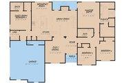 Craftsman Style House Plan - 4 Beds 3 Baths 1989 Sq/Ft Plan #923-156 Floor Plan - Main Floor Plan