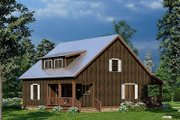 Country Style House Plan - 1 Beds 2 Baths 993 Sq/Ft Plan #923-219