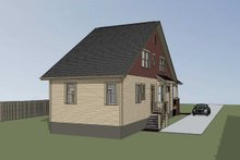 Home Plan - Bungalow Exterior - Rear Elevation Plan #79-318