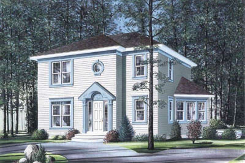 Architectural House Design - Colonial Exterior - Front Elevation Plan #23-2110