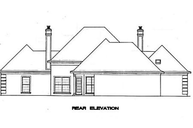 European Exterior - Rear Elevation Plan #45-135 - Houseplans.com