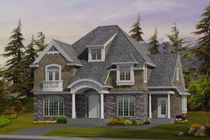 Craftsman Exterior - Front Elevation Plan #132-150