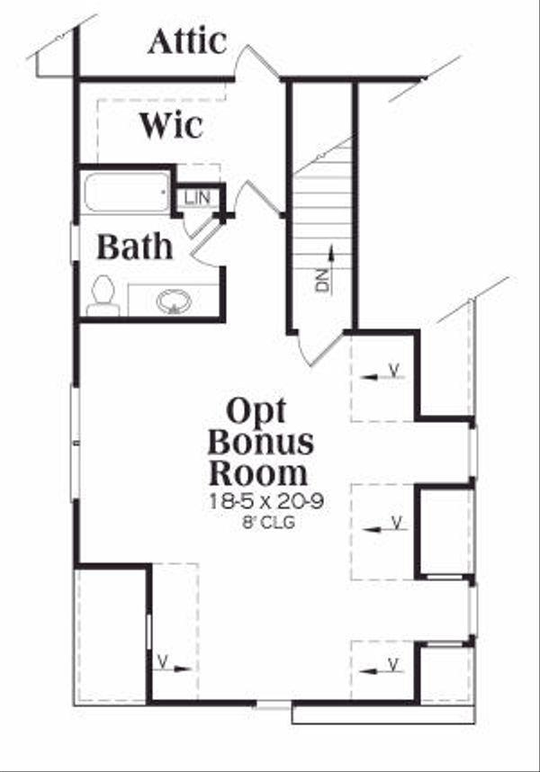 European Floor Plan - Upper Floor Plan #419-166