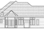 Bungalow Style House Plan - 2 Beds 2 Baths 1723 Sq/Ft Plan #70-582 Exterior - Rear Elevation