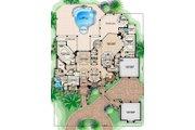 Mediterranean Style House Plan - 5 Beds 7 Baths 10993 Sq/Ft Plan #27-478 Floor Plan - Main Floor Plan