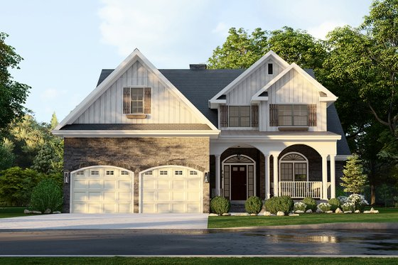 Craftsman Exterior - Front Elevation Plan #17-2131