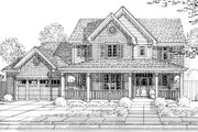 Traditional Style House Plan - 4 Beds 2.5 Baths 2076 Sq/Ft Plan #46-899 Exterior - Front Elevation