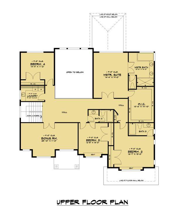 Home Plan - Contemporary Floor Plan - Upper Floor Plan #1066-125