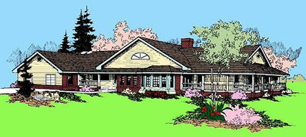 Ranch style house plan 3 beds 2 baths 2561 sq ft plan for Tk homes floor plans