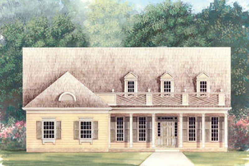 Country Exterior - Front Elevation Plan #119-268 - Houseplans.com