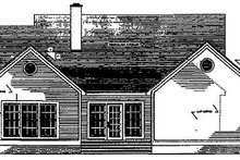 House Plan Design - Country Exterior - Rear Elevation Plan #406-266