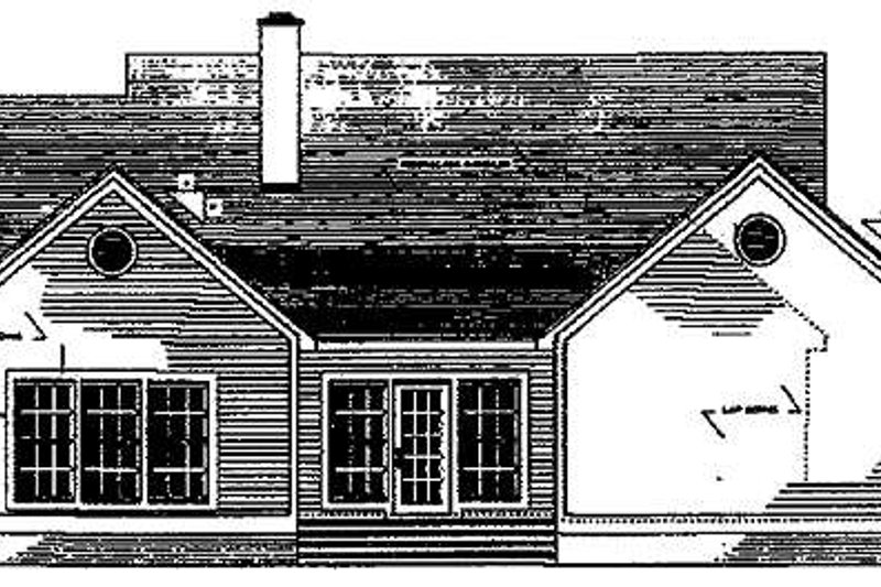 Country Exterior - Rear Elevation Plan #406-266 - Houseplans.com