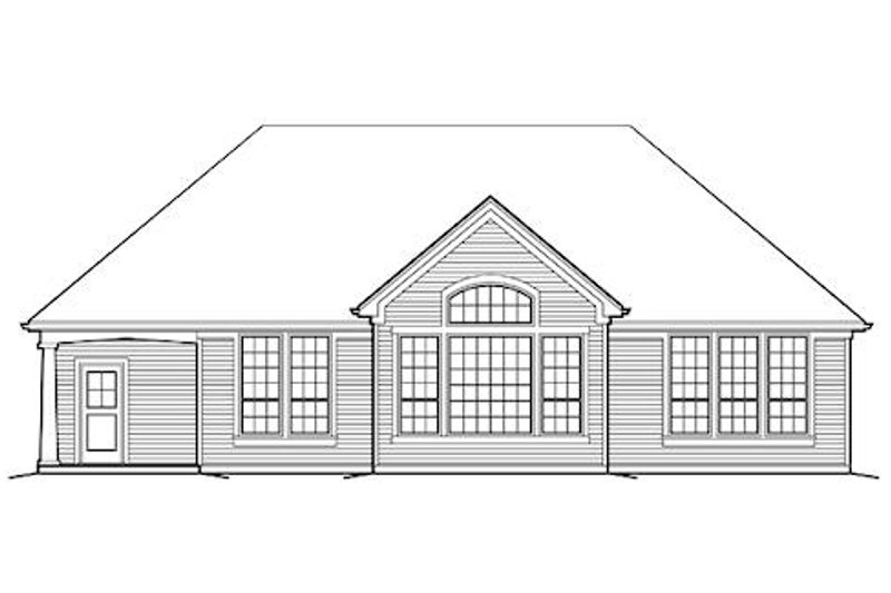 Craftsman Exterior - Rear Elevation Plan #48-410 - Houseplans.com