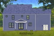 Traditional Style House Plan - 3 Beds 2.5 Baths 2188 Sq/Ft Plan #1010-243 Exterior - Rear Elevation