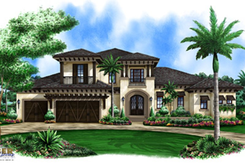 Beach Exterior - Front Elevation Plan #27-520