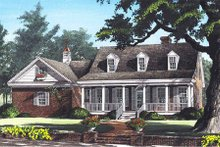 Country Exterior - Front Elevation Plan #137-198