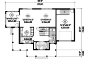 Country Style House Plan - 3 Beds 1 Baths 1953 Sq/Ft Plan #25-4375 Floor Plan - Main Floor Plan