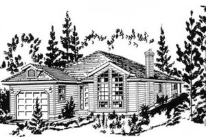 Traditional Exterior - Front Elevation Plan #18-9256