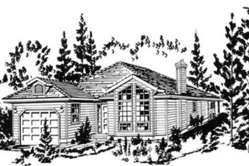 Traditional Style House Plan - 2 Beds 1.5 Baths 1164 Sq/Ft Plan #18-9256