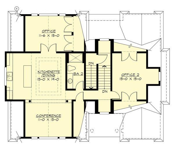 Architectural House Design - Traditional Floor Plan - Upper Floor Plan #132-191
