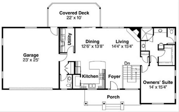 Ranch Floor Plan - Main Floor Plan Plan #124-740